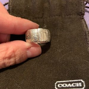 Coach ring. Sterling silver. Size 8